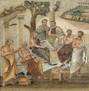 Philosophers, Mosaic, Villa Albani