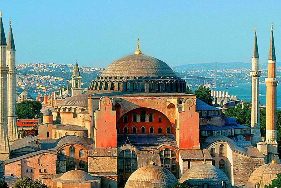 Hagia Sophia (Holy Wisdom), Istanbul, Turkey completed in 537 AD.