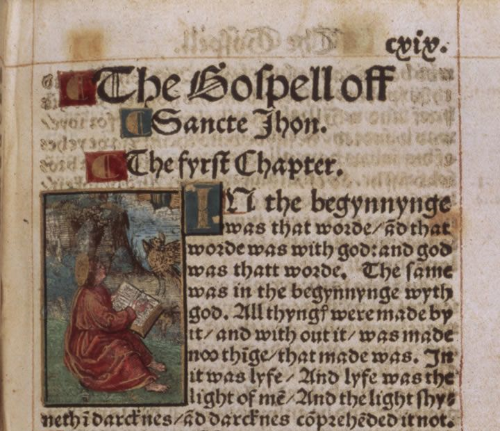 The Gospel of St John from the Tyndale Bible