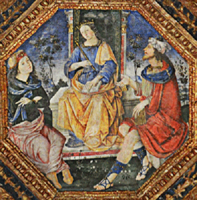 Moses conversing with Hermes in front of Isis (Pinturicchio, 1495, Borgia Apartments Vatican)