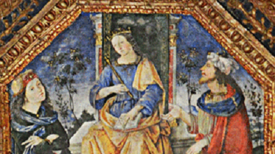 Moses, Isis and Hermes chatting (cropped)